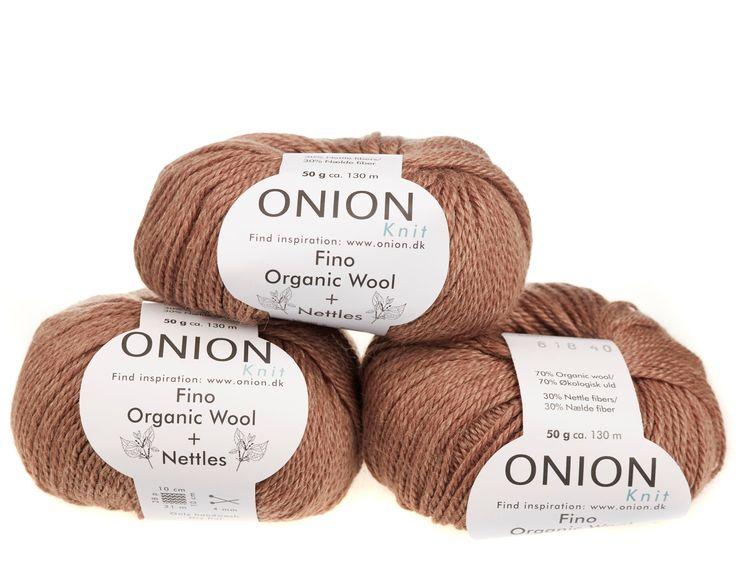 Sand V818 - No. 4 - Fin økologisk uld med nældefibre - Onion - Strikkepinden - Nøgler á 50 gram
