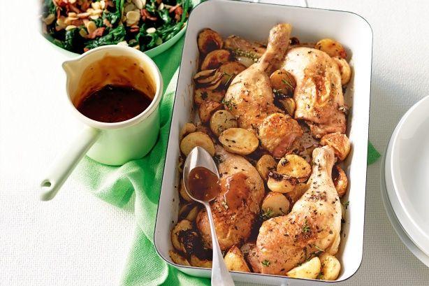 Roast chicken pieces
