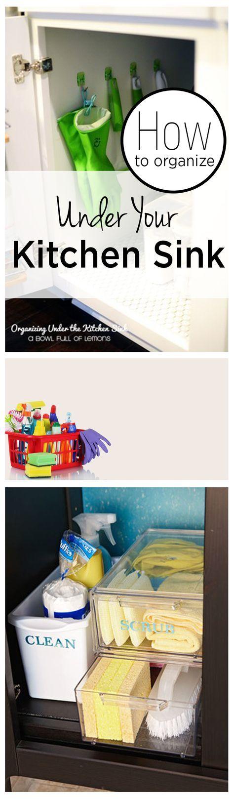 Kitchen sink, kitchen sink organization, popular pin, home organization, home organization tips, cleaning, cleaning tips, cleaning hacks, easy cleaning tips.