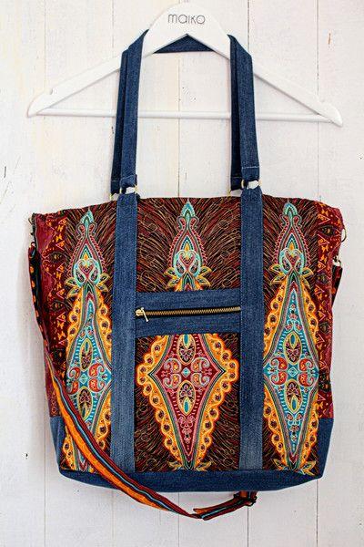 Torebka na ramię z afrykańskim wzorem - Maiko_shop - Torby balonowe