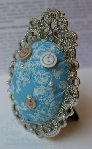 Pin Cushion made with vintage frame