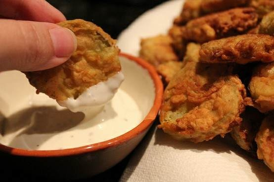 Fried pickles, always a favorite. Love them!