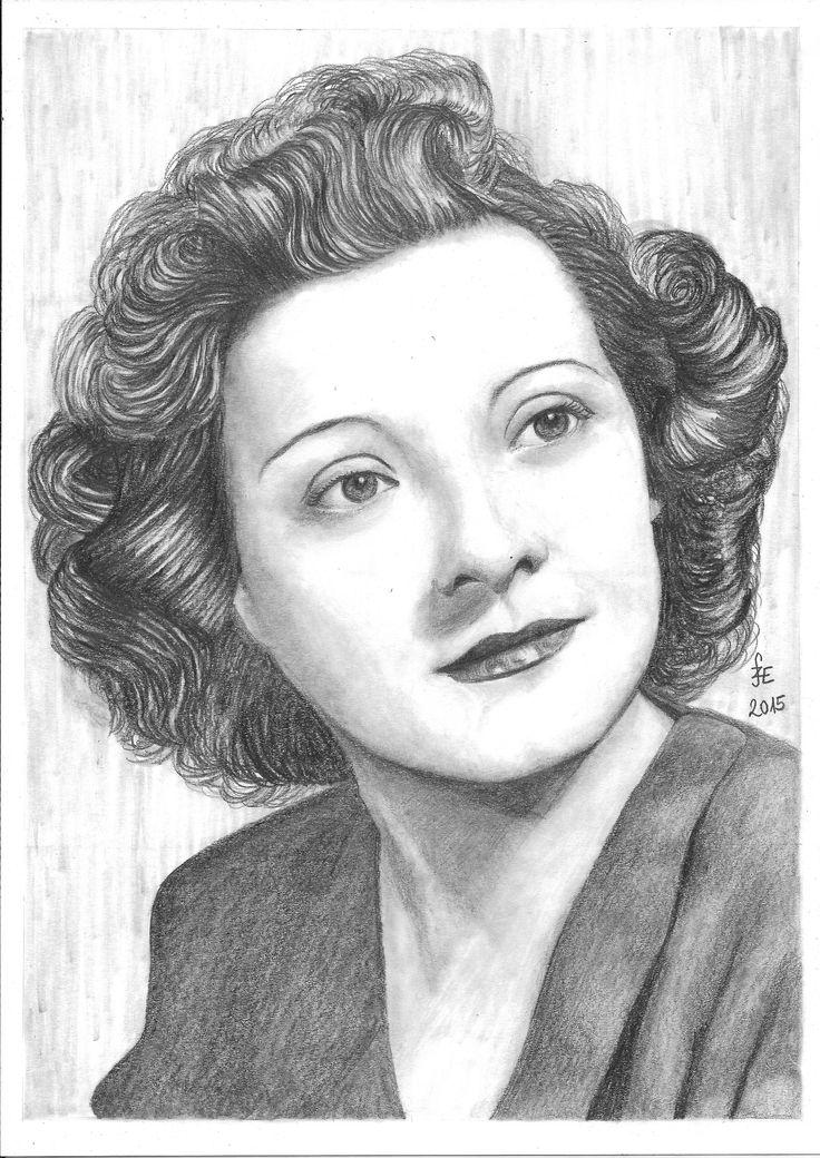 Pencil drawing portrait Kiss Manyi by Erika Székesvári  https://www.facebook.com/ercziart/