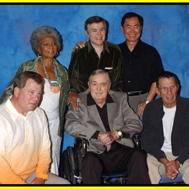Nichelle Nichols, Walter Koenig, George Takei, William Shatner, James...