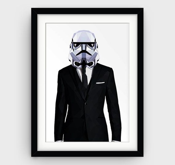 Stormtrooper Art Print Star Wars Printable Art by GalliniDesign