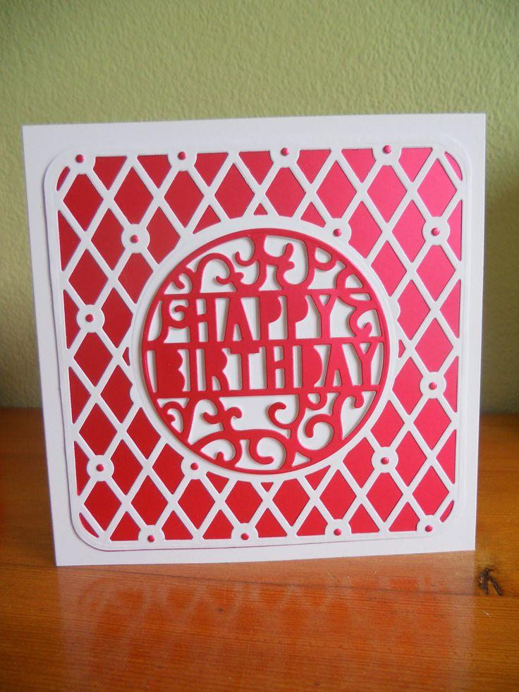 Tonic boudoir square and popup Happy Birthday.