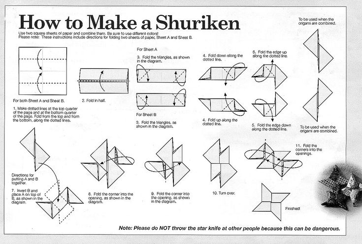 """A shuriken (Japanese 手裏剣; literally: """"sword hidden in the hand"""") is a traditional Japanese concealed weapon that was generally used for throwing... #Origami  -via infohow.org"""