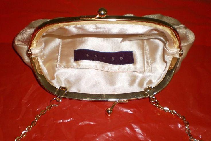 Gold Party Evening Clutch Purse Handbag by Debut Debenhams