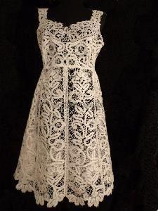 The Frosty Pattern - sarafan, Vologda bobbin lace technique