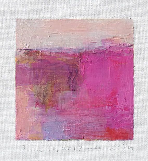June 30 2017 Original Abstract Oil Painting 9x9 painting