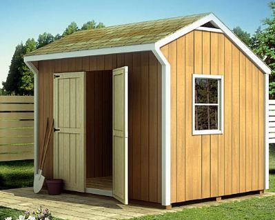 the charming shed is a perfect storage space for your lawn tools and equipment the design includes two optional side windows and large double doors