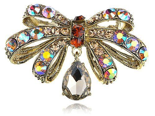 Colorful Crystal Rhinestone Gold Tone Miniature Dragonfly Bug Design Pin Brooch Alilang. Save 13 Off!. $12.99
