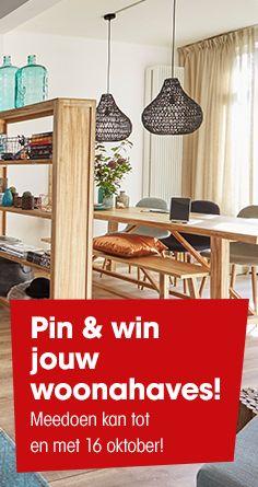 Niet gewonnen deze week? Gelukkig maak je vanaf nu opnieuw kans op 450,- shoptegoed door jouw #woonahaves met ons te delen via je eigen woonahaves-bord op Pinterest. Meedoen kan ook via www.kwantum.nl, Facebook en Instagram! Succes!