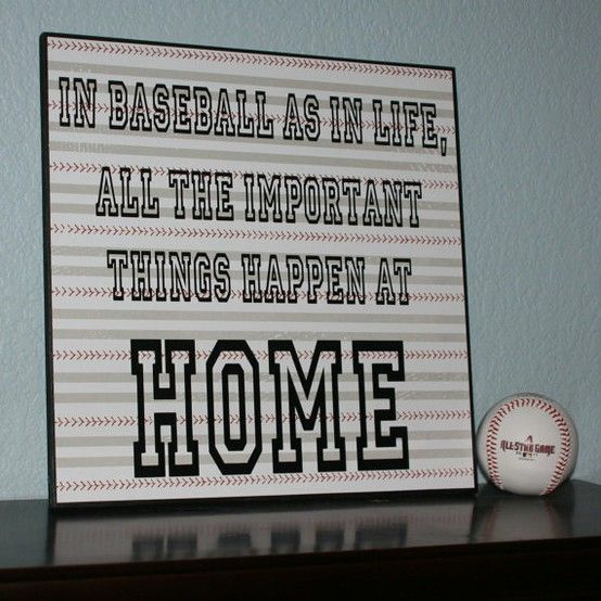 In baseball as in life, all the important things happen at home.