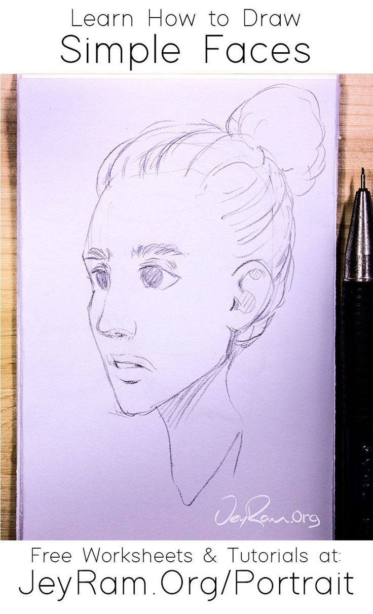 How To Draw Simple Faces Tutorial Series In 2020 Drawing Tutorial Drawings Drawing Skills