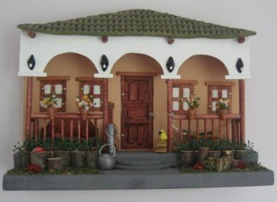 fachadas balcon madera con arcilla a mano - Google Search