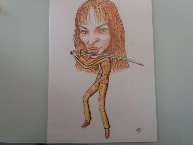 VITTO - Uma Thurman Comics - disegno originale   eBay