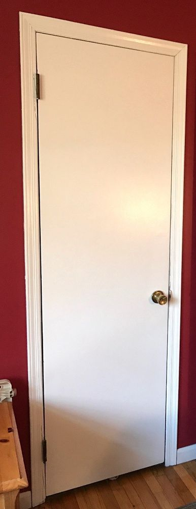 I have the same boring doors - thank you for the brilliant idea! said a reader when she saw the transformation: