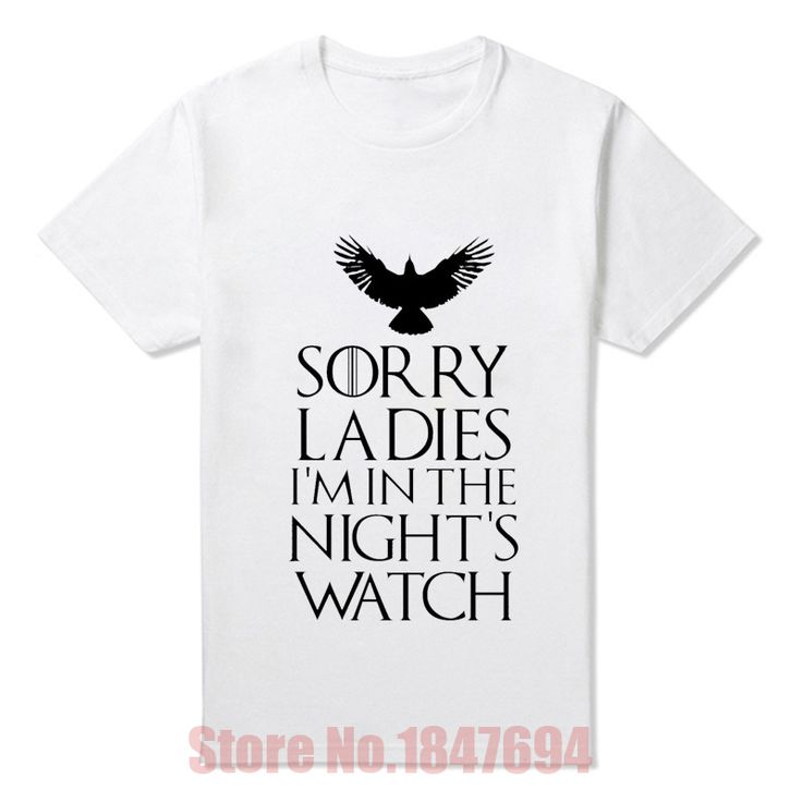 New Arrival Men Summer Fashion Style T Shirts Game of Thrones Nights Watch Oath T shirts. Click visit to buy #T-Shirts