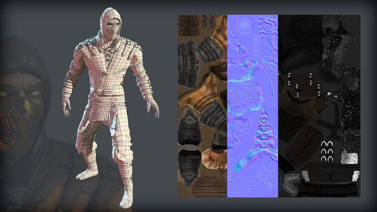 ArtStation - Mortal Kombat X Scorpion , Joseph Coto