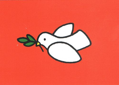 Titel: vredesduif, Design: Dick Bruna