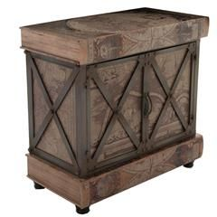 WOODEN/PU CABINET W/GLOBAL 80X42X78