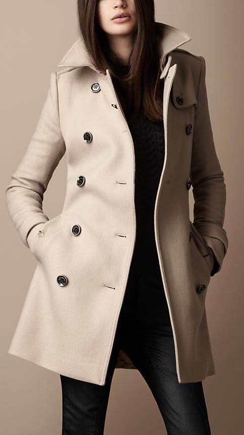 Burberry - MID-LENGTH WOOL TWILL TRENCH COAT