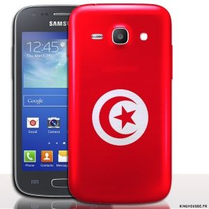 Coque telephone Ace 4 Tunisie - coque drapeau Samsung. #Coque #Samsung #galaxy #Ace #4 #Case #Cover #telephone #portable #Tunisie #drapeau #flag