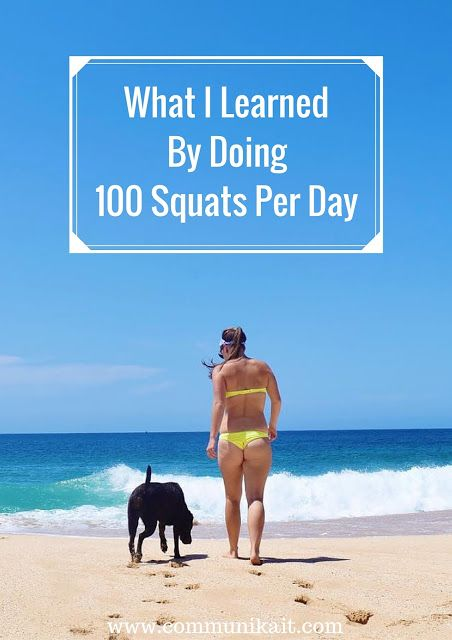 What I Learned By Doing 100 Squats Per Day