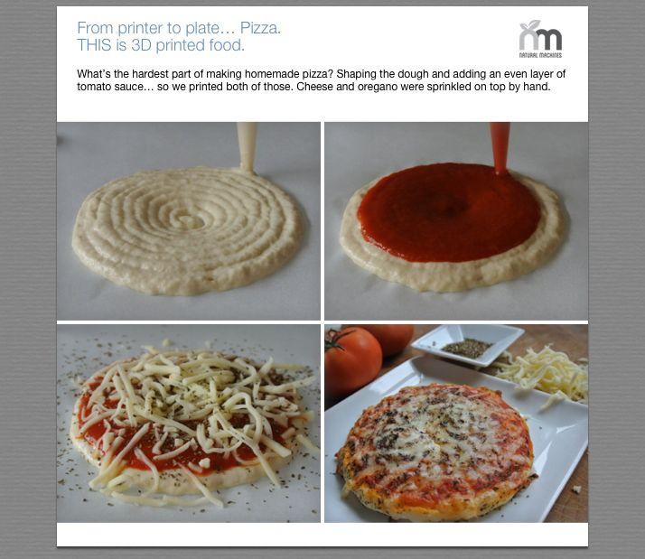 Préparation pizza. Crédit photo : Natural Machines