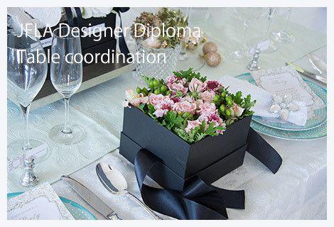 Fresh Flower Gift Box Arrangement.Table Setting.Green flowers.Pink roses.JFLAデザイナーズ資格テーブルコーディネートクラス♡テーブルセッティング たった今