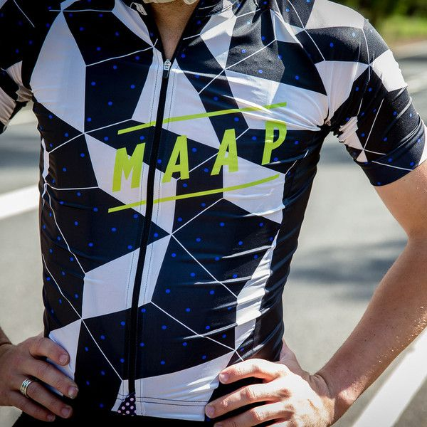 Polygon Jersey - MAAP. The Polygon cycling jersey features a high contrast geometric pattern which offers a highly visible yet stylish jersey option.