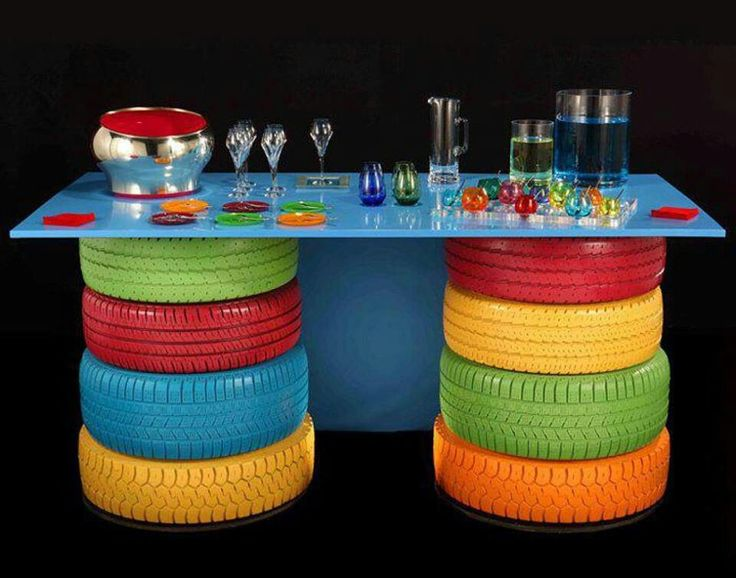 tires are perfect table legs for a kidu0027s craft table you can