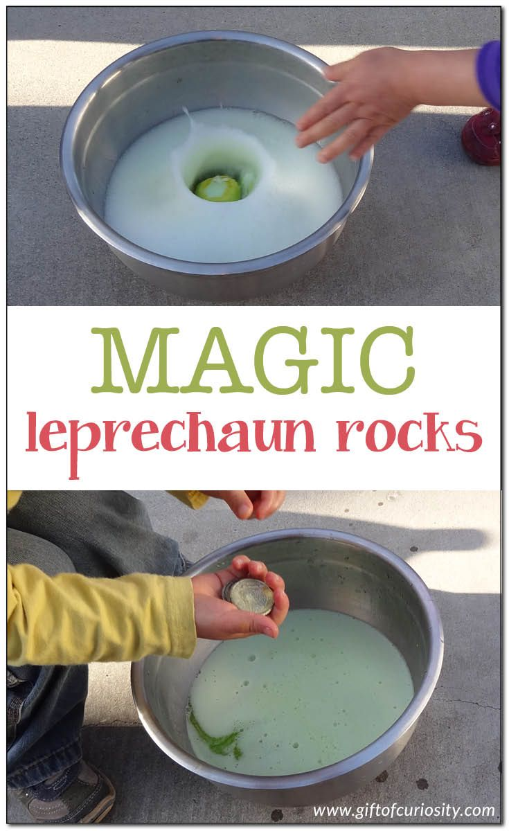Bring a little magic to St. Patrick's Day by making magic leprechaun rocks that fizz and dissolve when washed, leaving leprechaun gold behind.