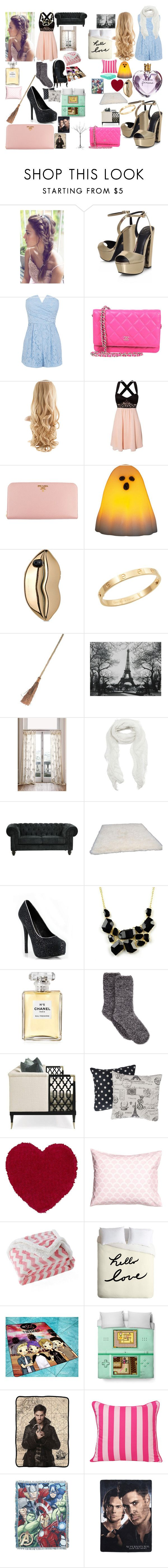 """my futre house with my twin"" by bellerose-44 ❤ liked on Polyvore featuring KG Kurt Geiger, Vera Wang, Chanel, Prada, STELLA McCARTNEY, Cachet, Subtle Luxury, nuLOOM, Emi Jewellery and Charter Club"