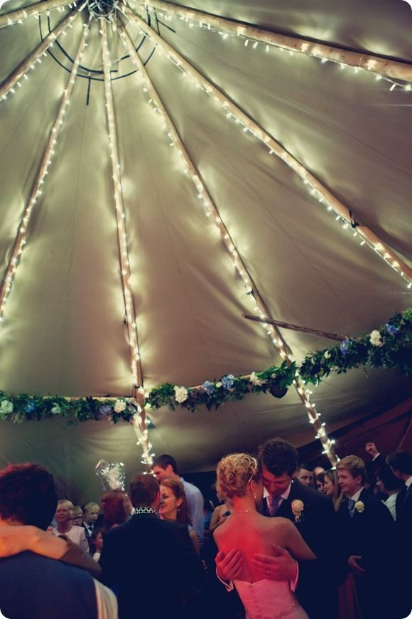 WH Photography - fairy light love tipi wedding teepee