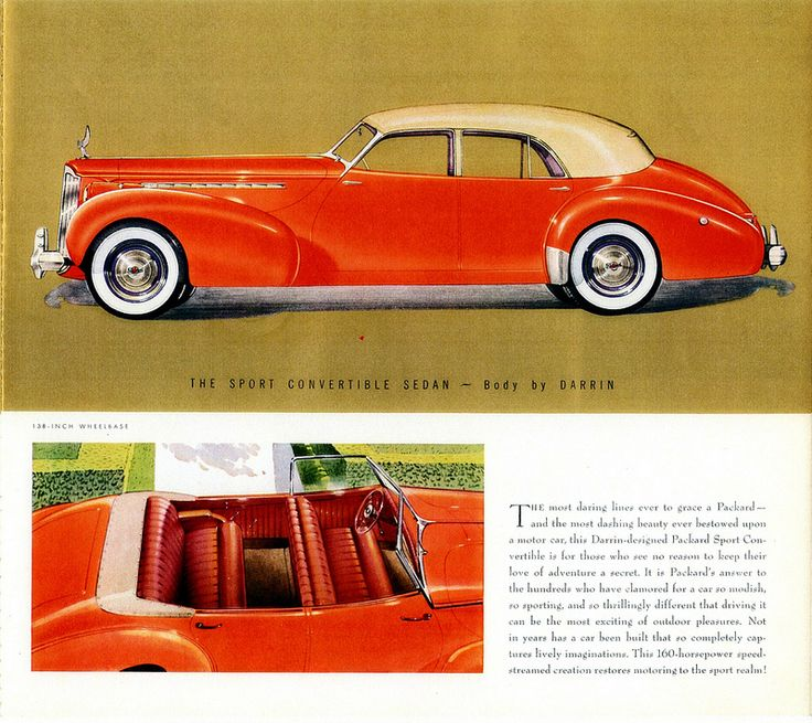 1940 Packard Super-8 One-Eighty Sport Convertible Sedan By