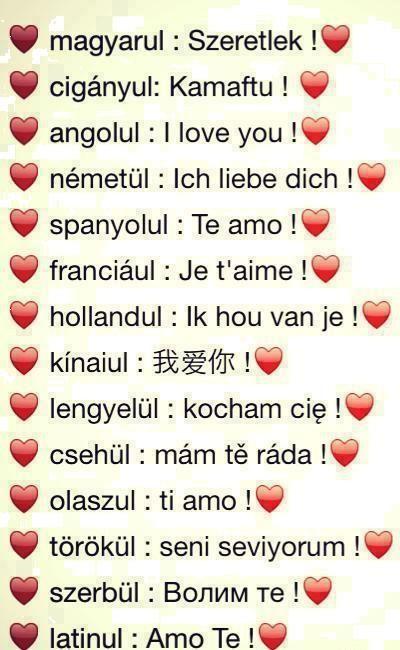 Szerelem minden nyelven!