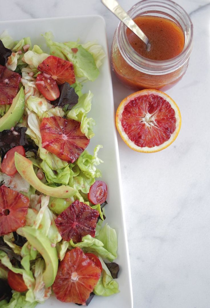 Blood orange vinaigrette (click through for recipe)