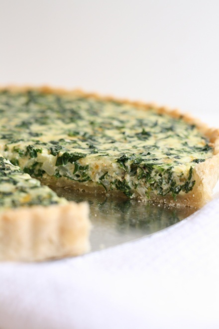 Spinach Quiche - so good! I made mine low fat using reduced fat cheddar cheese, skim milk instead of half & half, neufchatel (1/3 the fat of cream cheese)