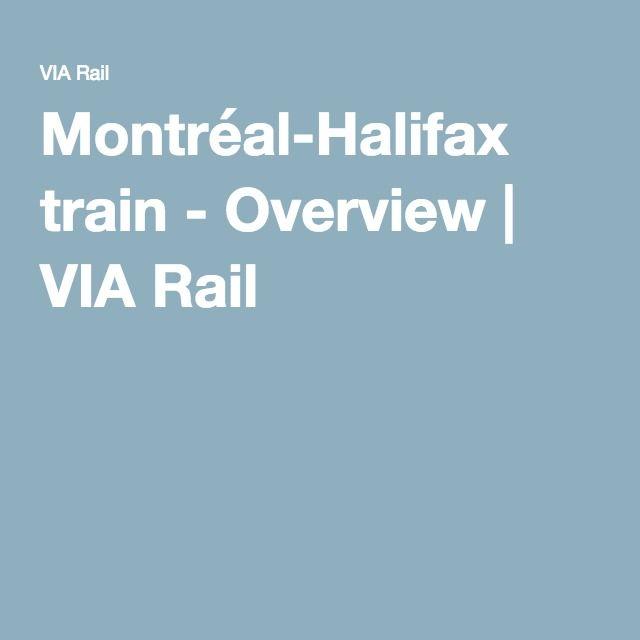 Montréal-Halifax train - Overview | VIA Rail