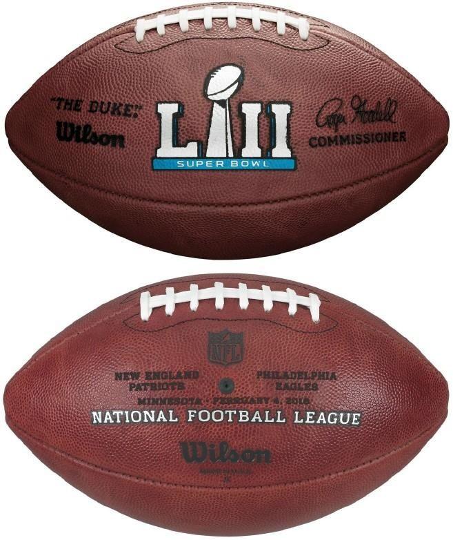 Wilson Official Leather Nfl Super Bowl 52 Lii Full Size Game Football Philadelphia Eagles Vs New England Patriots Nfl Football John Elway Football