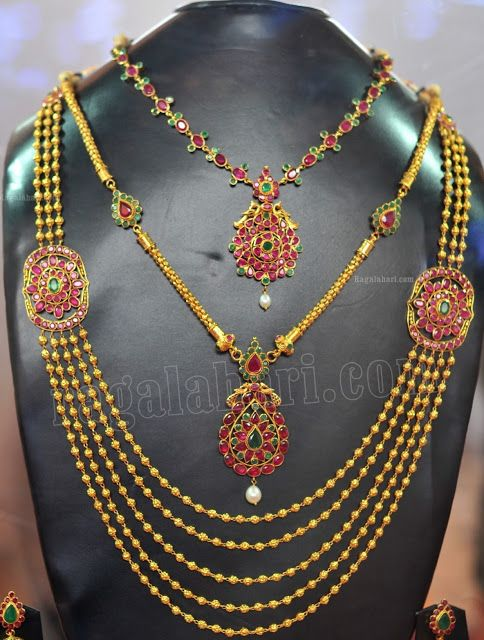 Gold Necklace - Indian Jewellery Designs South Jewellery