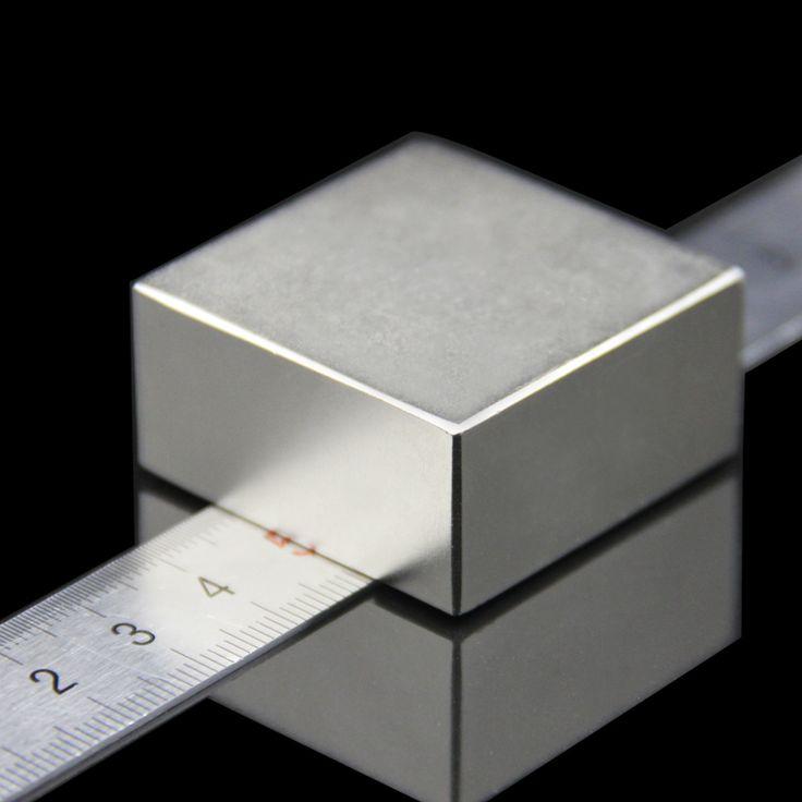 1 PCS blok 40 x 40 x 20 mm Super kuat kuat tanah jarang, Blok NdFeB Magnet Neodymium magnet, N52 magnet, - Pengiriman gratis
