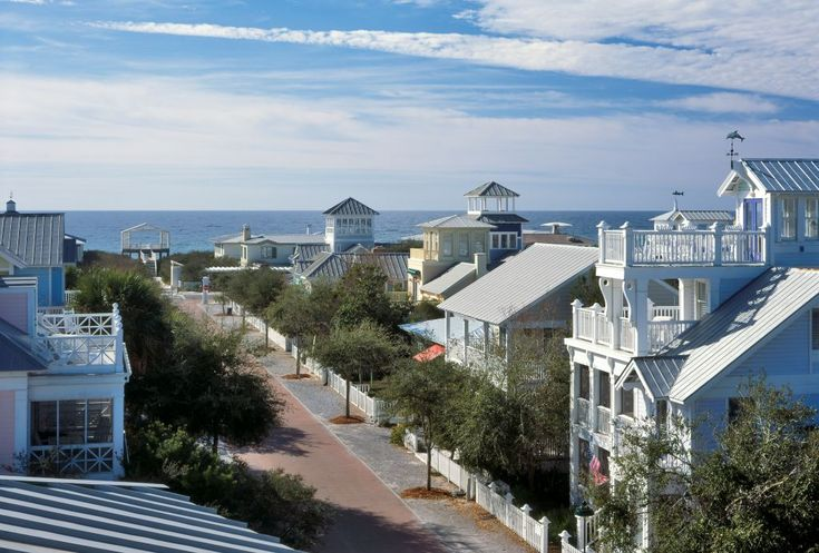 Seaside, Florida...a perfect beach town. One of the prettiest and most quaint places I've visited in the USA. Colourful homes, beautiful beach and bikes only on most roads.