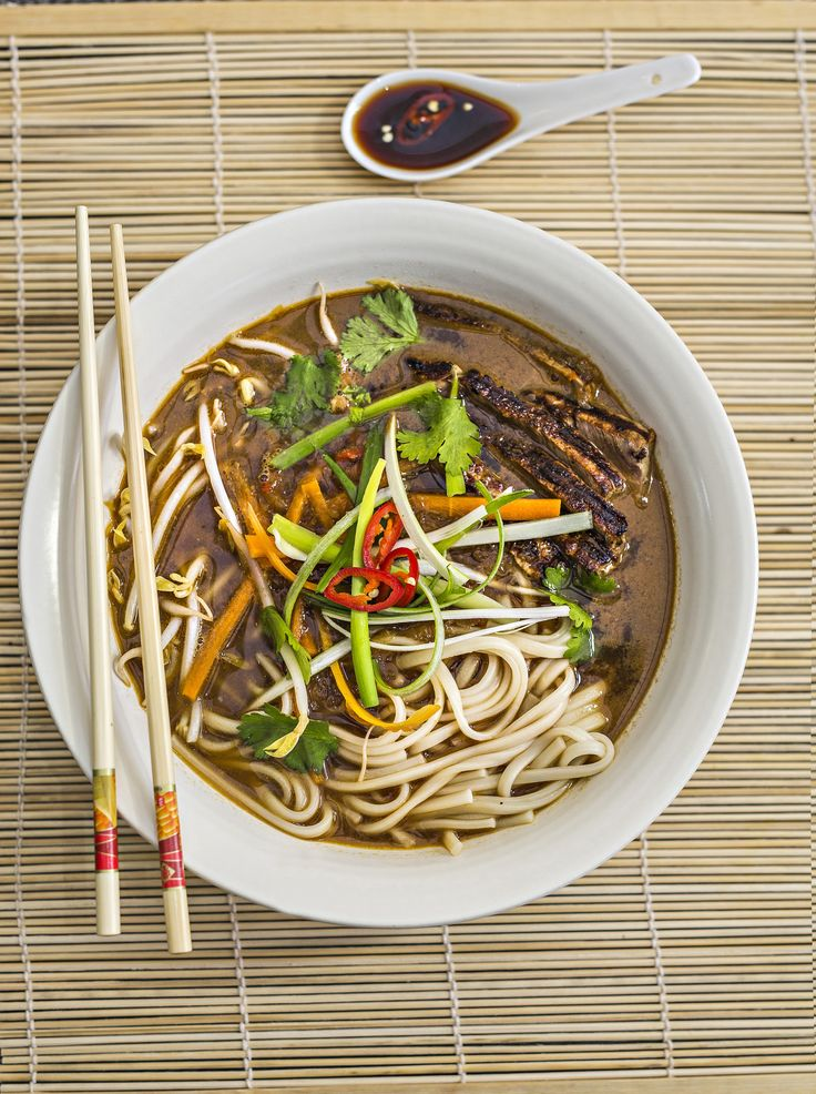 Grilled Beef Udon Noodle Soup #tenina #thermomix #recipe #cookbook