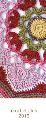 crochet club > Home > Janie Crow    2012    intended to be an afghan but would make a nice doily    -m-