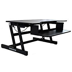 Ergonomia Height Adjustable Standing Sit to Stand Desk Riser, Black