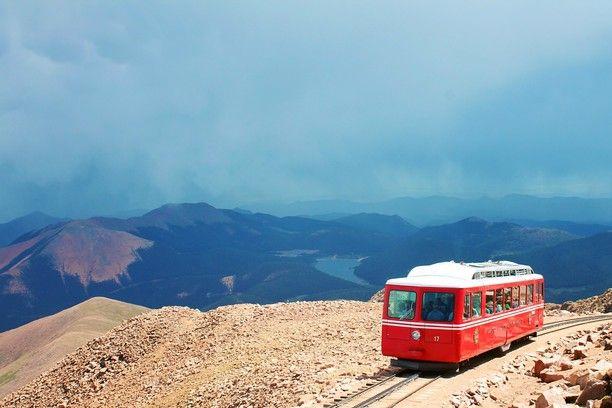 Pikes Peak Cog Railway, Manitou Springs, Colorado - Pikes Peak Cog...