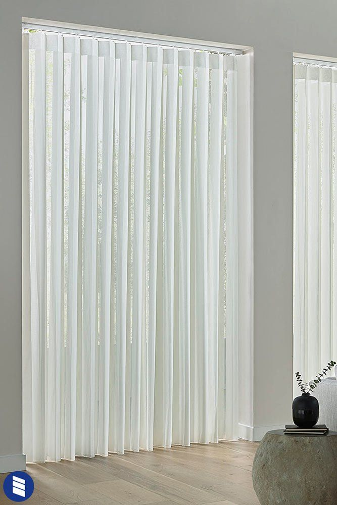Economy Sheer Vertical Shades Blinds Com In 2020 Vertical Shades Sliding Glass Door Vertical Blinds